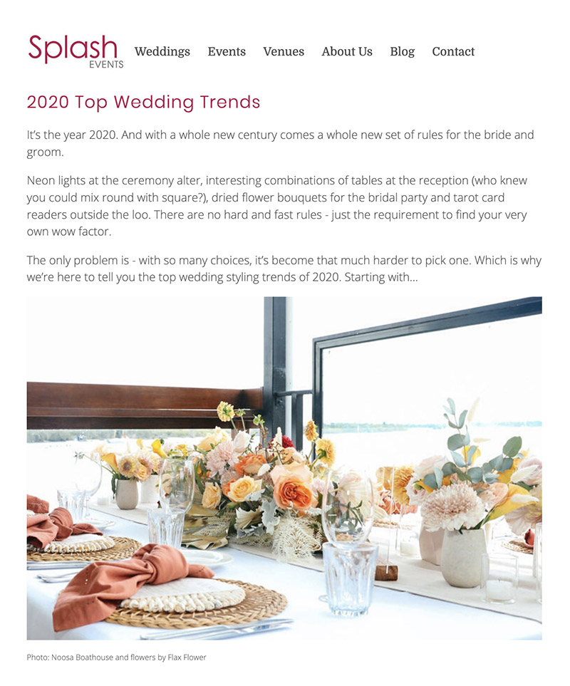 Wedding blog copywriting clip