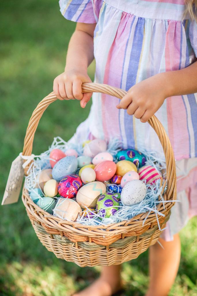 Kids easter egg basket